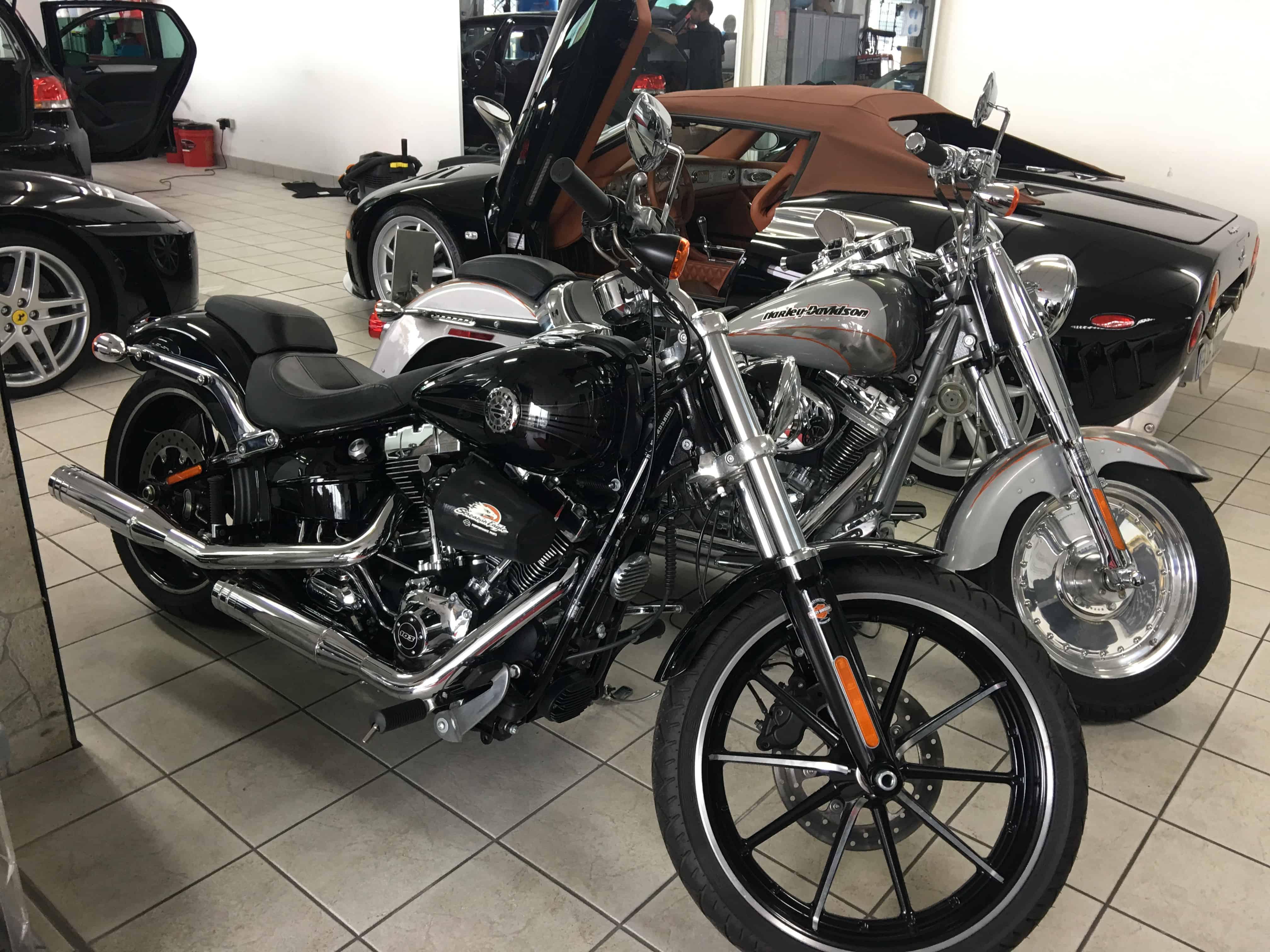 Motorrad Pflege und Winter Service